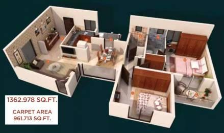 1362 sqft, 2 bhk Apartment in Expat Wisdom Tree Kuvempu Layout on Hennur Main Road, Bangalore at Rs. 61.3350 Lacs