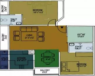 1350 sqft, 2 bhk Apartment in Iconic Regency Kalyan Nagar, Bangalore at Rs. 85.0000 Lacs