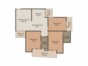 1295 sqft, 3 bhk Apartment in Supertech 34 Pavilion Sector 34, Noida at Rs. 82.0000 Lacs