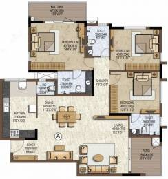 2019 sqft, 3 bhk Apartment in Prestige Brooklyn Heights JP Nagar Phase 1, Bangalore at Rs. 60000