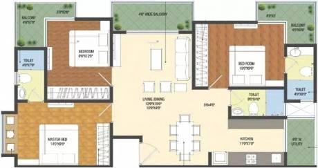 1435 sqft, 3 bhk Apartment in Patel Smondo Gachibowli, Hyderabad at Rs. 90.0000 Lacs