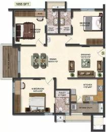 1655 sqft, 3 bhk Apartment in Accurate Wind Chimes Narsingi, Hyderabad at Rs. 77.0000 Lacs