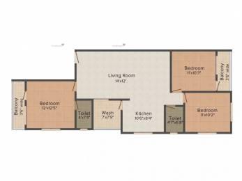 1450 sqft, 3 bhk Apartment in Shree Siddheshwar Gold Rameshwari, Nagpur at Rs. 45.0000 Lacs