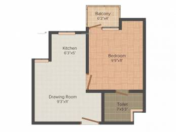 500 sqft, 1 bhk Apartment in Urbtech Xaviers Sector 168, Noida at Rs. 10000