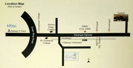 3843 sqft, Plot in Builder Project Aushapur, Hyderabad at Rs. 34.1550 Lacs