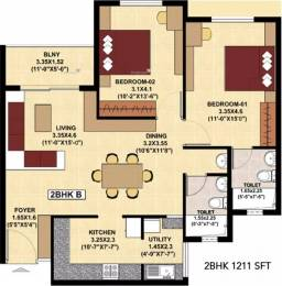1211 sqft, 2 bhk Apartment in SJR Fiesta Homes Electronic City Phase 2, Bangalore at Rs. 56.0000 Lacs