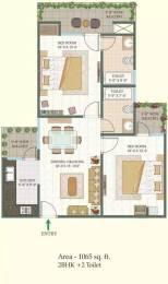 1065 sqft, 2 bhk Apartment in MR Shalimar City Pasaunda, Ghaziabad at Rs. 32.0000 Lacs