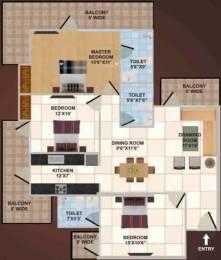 1700 sqft, 3 bhk Apartment in Panchsheel Wellington Crossing Republik, Ghaziabad at Rs. 60.0000 Lacs