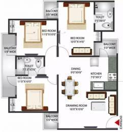 1344 sqft, 3 bhk Apartment in Gaursons Gaur Grandeur Sector 119, Noida at Rs. 72.0000 Lacs