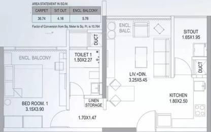 513 sqft, 1 bhk Apartment in Paranjape Blue Ridge The Lofts Hinjewadi, Pune at Rs. 51.0000 Lacs