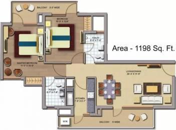 1198 sqft, 2 bhk Apartment in CHD Avenue 71 Sector 71, Gurgaon at Rs. 82.0000 Lacs
