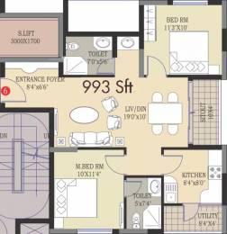993 sqft, 2 bhk Apartment in Prajay Megapolis Kukatpally, Hyderabad at Rs. 53.6000 Lacs