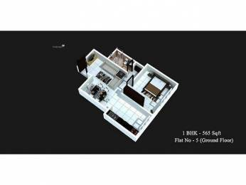 565 sqft, 1 bhk Apartment in Chirag Palace Surathkal, Mangalore at Rs. 24.0000 Lacs