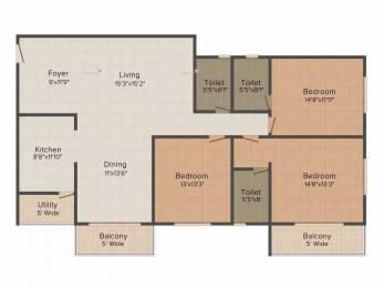 2215 sqft, 3 bhk Apartment in Salarpuria Sattva Luxuria Malleswaram, Bangalore at Rs. 2.8500 Cr