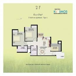 950 sqft, 2 bhk Apartment in Jaypee Kosmos Sector 134, Noida at Rs. 7500