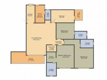 2800 sqft, 3 bhk Apartment in DLF The Crest Sector 54, Gurgaon at Rs. 4.5000 Cr