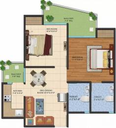 810 sqft, 2 bhk Apartment in Ajnara LeGarden Sector 16 Noida Extension, Greater Noida at Rs. 4700