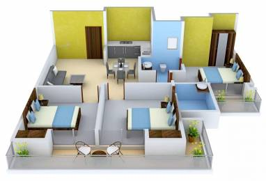 1530 sqft, 3 bhk Apartment in Ace City Sector 1 Noida Extension, Greater Noida at Rs. 9500
