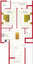 1100 sqft, 2 bhk Apartment in Bajwa Paradise Apartments Sector 124 Mohali, Mohali at Rs. 24.5000 Lacs
