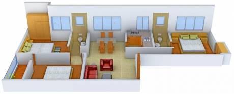 1365 sqft, 3 bhk Apartment in Gazebo Khanika Madurdaha Hussainpur, Kolkata at Rs. 15000