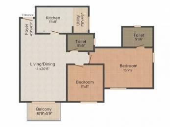 1263 sqft, 2 bhk Apartment in Purva Skywood Harlur, Bangalore at Rs. 75.0000 Lacs