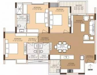 1433 sqft, 3 bhk Apartment in Ashadeep Ananta Jagat Sector 14 Bhiwadi, Bhiwadi at Rs. 47.0000 Lacs