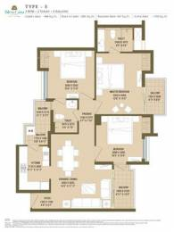 1620 sqft, 3 bhk Apartment in  Cleo County Sector 121, Noida at Rs. 1.0600 Cr