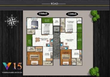 1200 sqft, 2 bhk Apartment in Builder Project Madhurawada, Visakhapatnam at Rs. 45.6000 Lacs