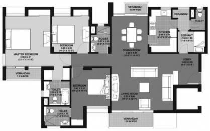 2065 sqft, 3 bhk Apartment in Unitech Cascades PI, Greater Noida at Rs. 20000