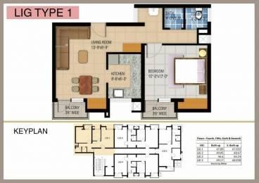 600 sqft, 1 bhk Apartment in Shri Balaji Swastik Grand Jatkhedi, Bhopal at Rs. 13.5000 Lacs