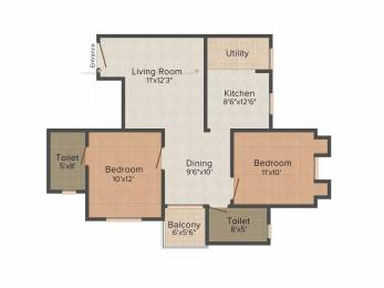 1080 sqft, 2 bhk Apartment in Galaxy Group Galaxy Intercity Nikol, Ahmedabad at Rs. 25.0000 Lacs
