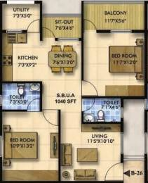 1040 sqft, 2 bhk Apartment in Mahaveer Zephyr Bommanahalli, Bangalore at Rs. 53.1400 Lacs