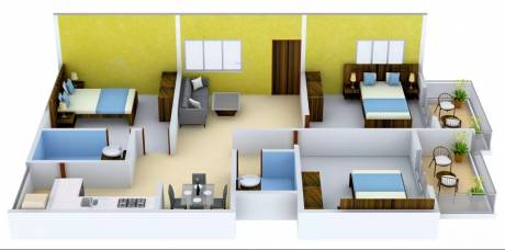 1425 sqft, 3 bhk Apartment in Man Alpine Square Electronic City Phase 2, Bangalore at Rs. 52.7250 Lacs