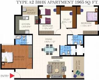 1965 sqft, 3 bhk Apartment in Frontier Heights Kasavanahalli Off Sarjapur Road, Bangalore at Rs. 88.4250 Lacs