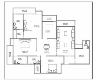 990 sqft, 2 bhk Apartment in Antriksh Galaxy Zone L Dwarka, Delhi at Rs. 38.5000 Lacs