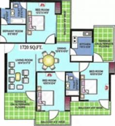 1720 sqft, 3 bhk Apartment in BDI Gulmohar Apartments Sector 11 Dwarka, Delhi at Rs. 1.8500 Cr