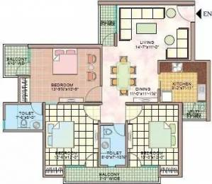 1490 sqft, 3 bhk Apartment in Manisha Marvel Home Sector 61, Noida at Rs. 20000