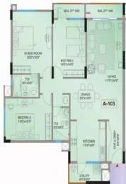 1400 sqft, 3 bhk Apartment in Mantri Mantri Flora Sarjapur Road Till Wipro, Bangalore at Rs. 43000
