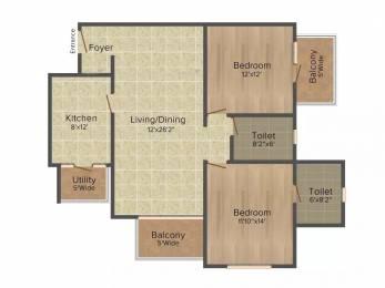 1342 sqft, 2 bhk Apartment in Salarpuria Sattva Serenity HSR Layout, Bangalore at Rs. 35000