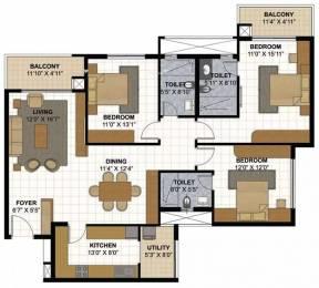1839 sqft, 3 bhk Apartment in Prestige Parkview Kadugodi, Bangalore at Rs. 33000
