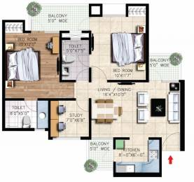 1060 sqft, 2 bhk Apartment in Nirala Greenshire Sector 2 Noida Extension, Greater Noida at Rs. 34.0000 Lacs