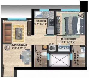 474 sqft, 1 bhk Apartment in Sethia Imperial Avenue Malad East, Mumbai at Rs. 73.0000 Lacs