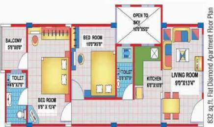 832 sqft, 2 bhk Apartment in KBG Life Infra Pvt Ltd Karol Bagh Grand Bardari, Indore at Rs. 22.0000 Lacs