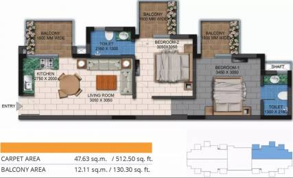 665 sqft, 2 bhk Apartment in Agrante Kavyam Homes Sector 108, Gurgaon at Rs. 21.0000 Lacs
