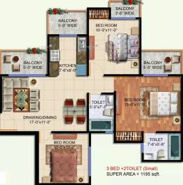 1195 sqft, 3 bhk Apartment in NewTech La Galaxia UPSIDC Surajpur Site, Greater Noida at Rs. 38.0000 Lacs