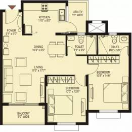 1092 sqft, 2 bhk Apartment in Plama Heights Hennur, Bangalore at Rs. 29000