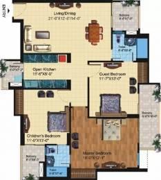1700 sqft, 3 bhk Apartment in Paramount Symphony Crossing Republik, Ghaziabad at Rs. 10500