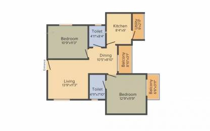 1012 sqft, 2 bhk Apartment in MJ Lifestyle Astro Electronic City Phase 2, Bangalore at Rs. 45.0000 Lacs