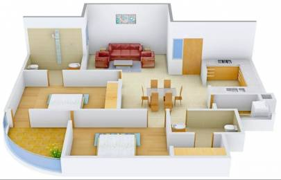 1292 sqft, 2 bhk Apartment in Pearls Nirmal Chhaya Towers VIP Rd, Zirakpur at Rs. 39.4800 Lacs