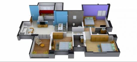 1400 sqft, 3 bhk Apartment in Mont Vert One Wakad, Pune at Rs. 82.0300 Lacs